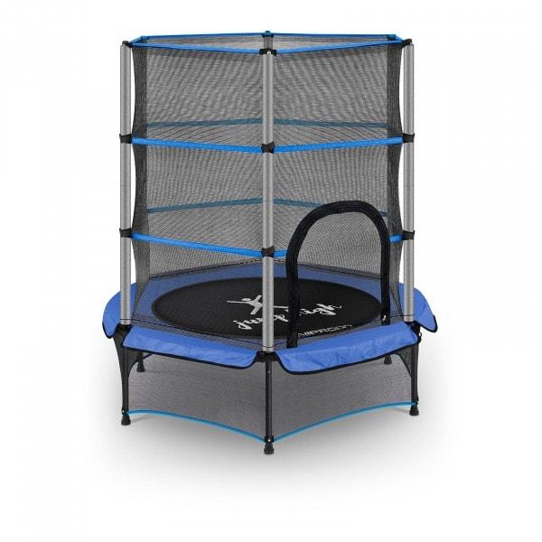 B-zboží Dětská trampolína - s bezpečnostní sítí - 140 cm - 50 kg - modrá