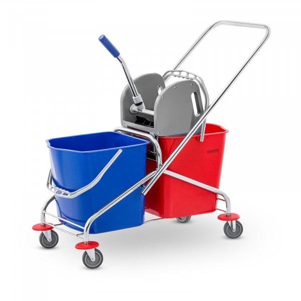 B-zboží Úklidový vozík se ždímáním - 2 vědra - 48 L