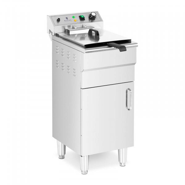 Elektrická fritéza - 13 l - 5 000 W - výpustný kohout - studená zóna - se spodní skříní