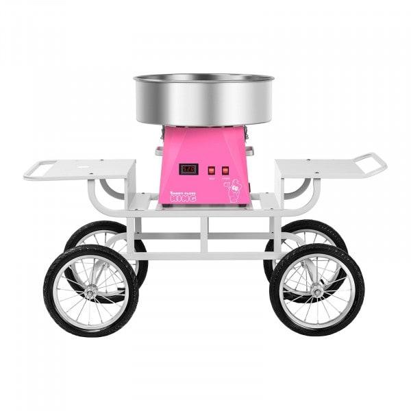 Souprava stroje na výrobu cukrové vaty - 52 cm - růžová/bílá