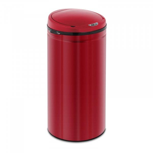 Bezdotykový odpadkový koš - 42 L - vnitřní vedro - červený - uhlíková ocel
