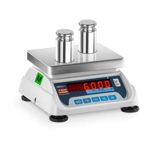 Obchodní váha - 3 kg / 1 g - černá - LED