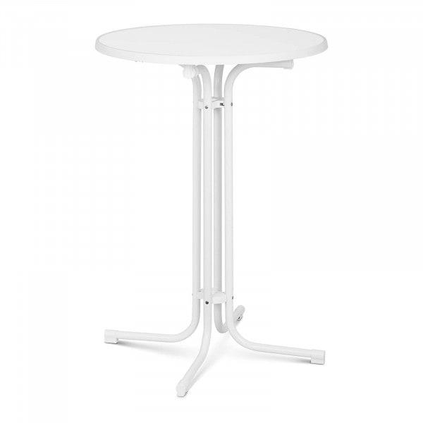 B-zboží Koktejlový stůl - Ø 80 cm - skládací - bílý