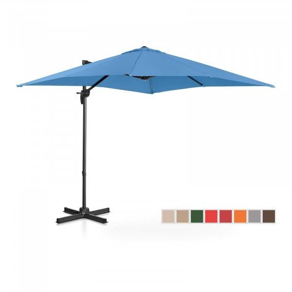 B-zboží Boční slunečník - modrý - čtvercový - 250 x 250 cm - otočný
