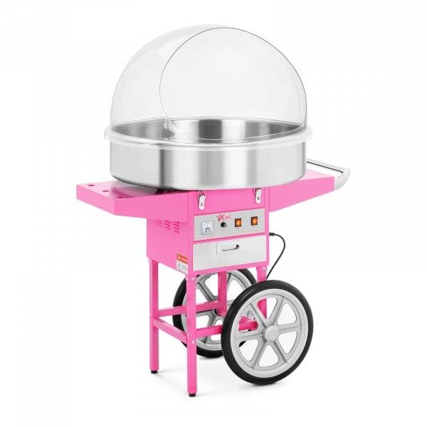 Stroj na cukrovou vatu - 72 cm - 1 200 W - vozík a ochranný kryt