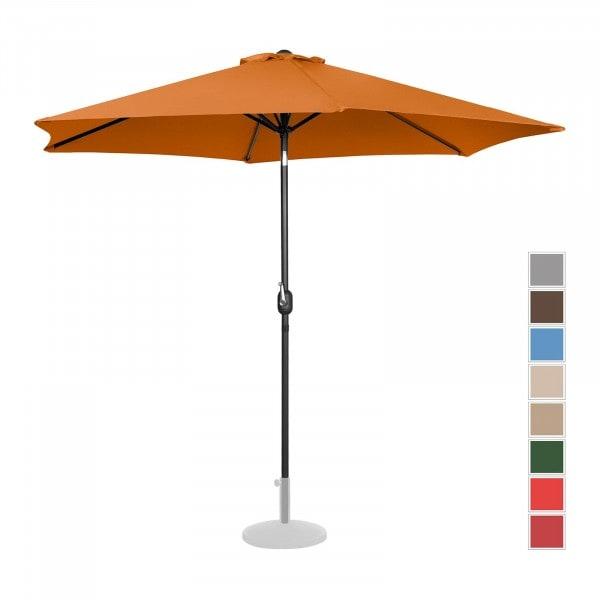 B-zboží Velký slunečník - oranžový - šestihranný - Ø 300 cm - s náklonem