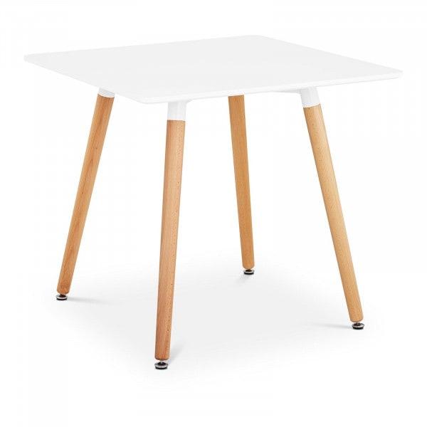 B-zboží Stůl - čtvercový - 80 x 80 cm - bílý