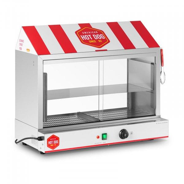 Ohřívač hotdogů - 300 párků- 100 rohlíků - 2 400 W