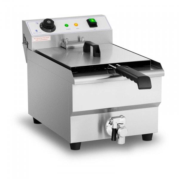 Elektrická fritéza - 13 litrů - 3 200 W - výpustný kohout - studená zóna