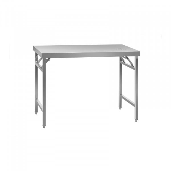 Skládací pracovní stůl z ušlechtilé ocele - 120 x 60 cm
