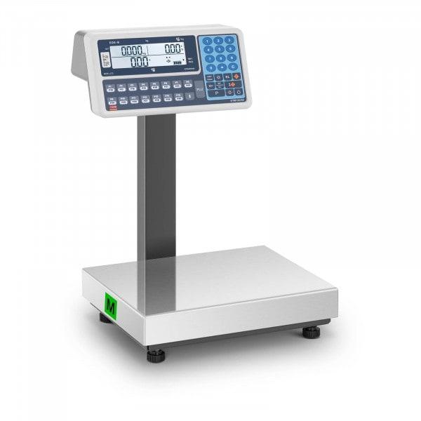 B-zboží Váha s výpočtem ceny - cejchovaná - 30 kg - duální LCD