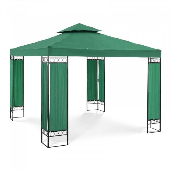 B-zboží Zahradní altán - 3 x 3 m - 160 g/m² - tmavozelený