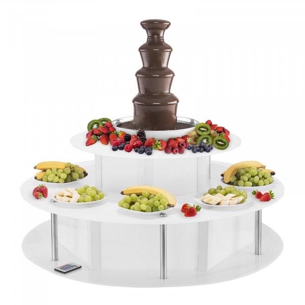 Čokoládová fontána sada - 4 patra - 6 kg s osvětleným stolem