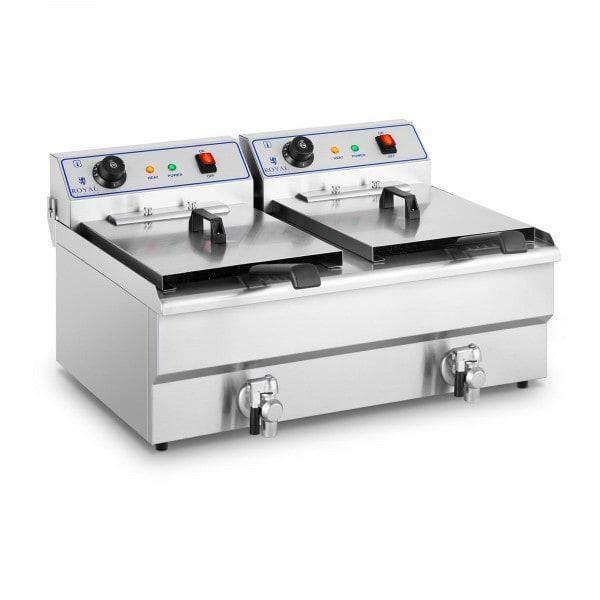 Elektrická fritéza - 2 x 16 l - 400 V