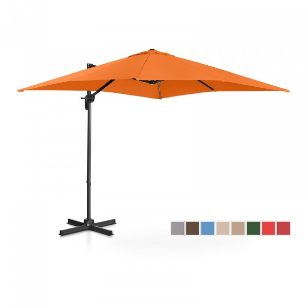 B-zboží Boční slunečník - oranžový - čtvercový - 250 x 250 cm - otočný