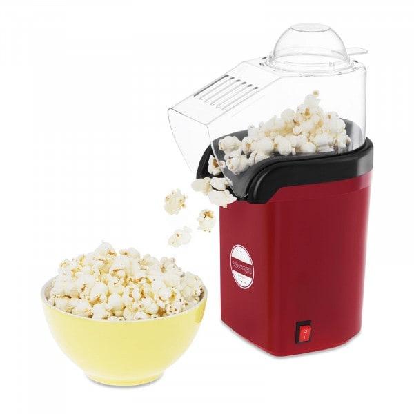 Horkovzdušný stroj na popcorn - červený
