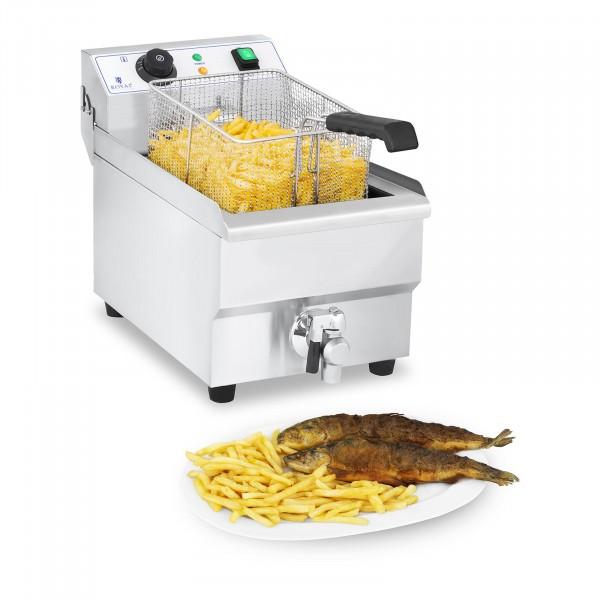 B-WARE Elektrická fritéza - 10 litrů s vypouštěcím kohoutem