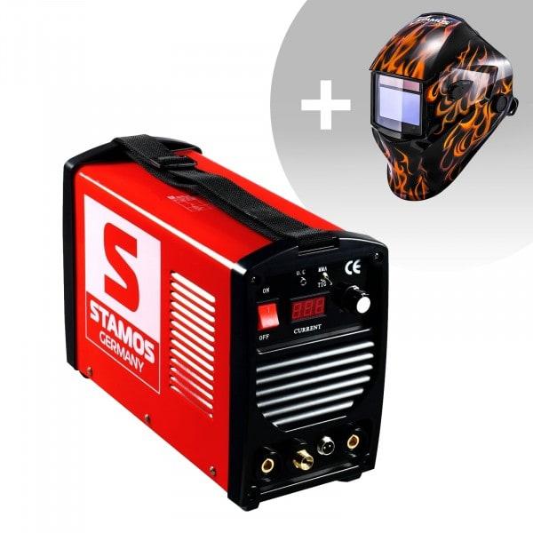 Svařovací set TIG svářečka - 200 A - 230 V - přenosná + Svářecí helma - Firestarter 500 - ADVANCED SERIES