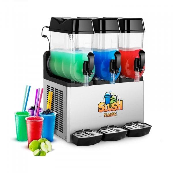 Výrobník ledové tříště - 3 x 12 litrů - LED