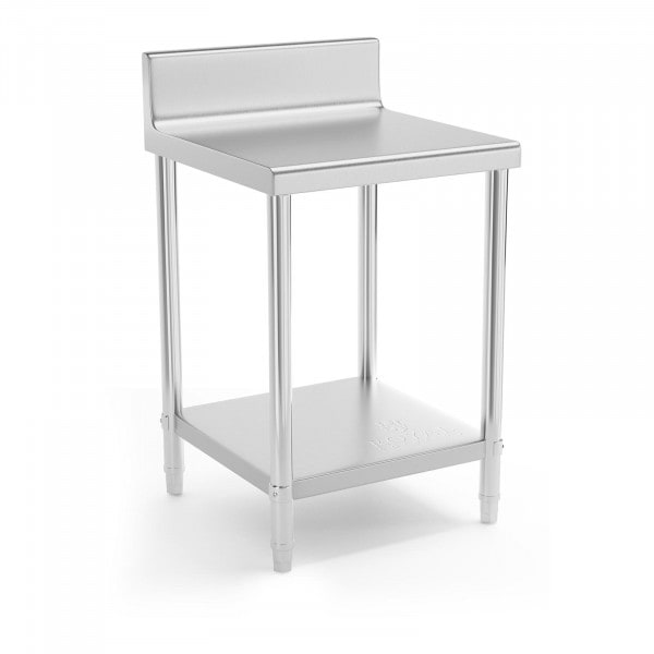 B-zboží Nerezový stůl - 60 x 60 cm - s lemem - nosnost 150 kg