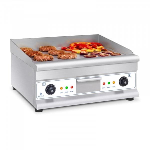 Dvojitá elektrická grilovací deska - 60 cm - hladká - 2 × 3 200 W