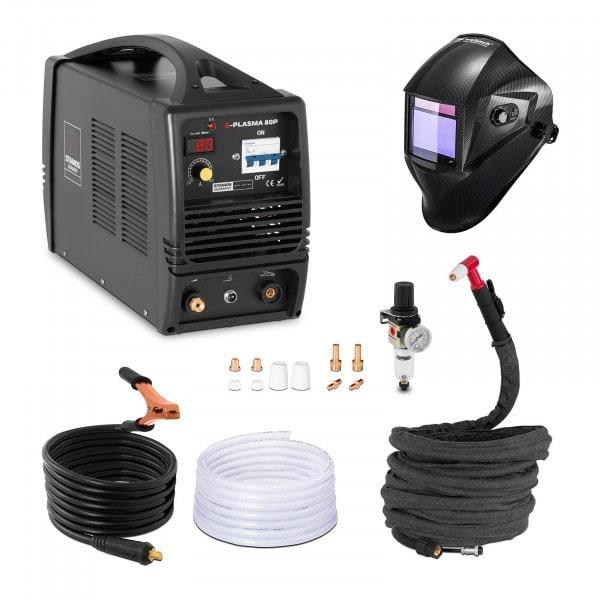 Svařovací set Plazmová řezačka - 80 A - 400 V + Svářecí helma - Carbonic - PROFESSIONAL SERIES