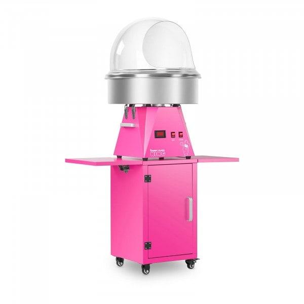 Souprava stroje na cukrovou vatu s vozíkem a krytem - 52 cm - růžová