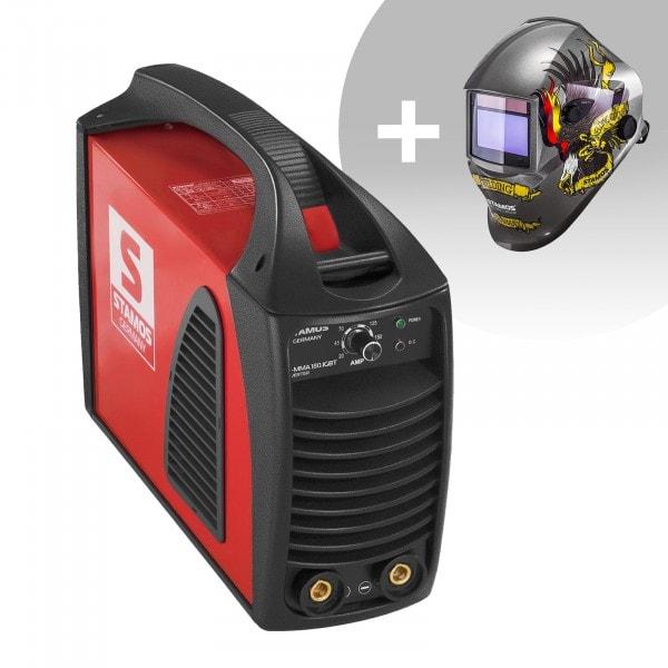 Svařovací set Elektrodová svářečka - 180 A - Hot Start - IGBT + Svářecí helma- Eagle Eye - ADVANCED SERIES