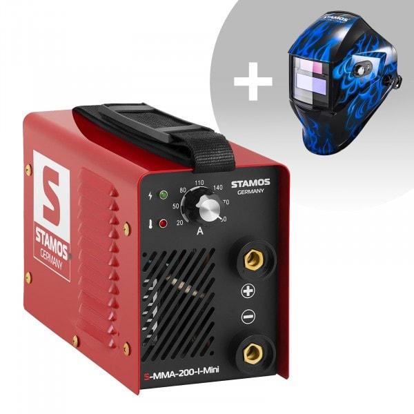 Svařovací set Elektrodová svářečka - 200 A - 230 V - IGBT + Svářecí helma - Sub Zero - EASY SERIES