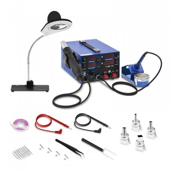 Pájecí stanice - 800 W - 4 LED - s lampou