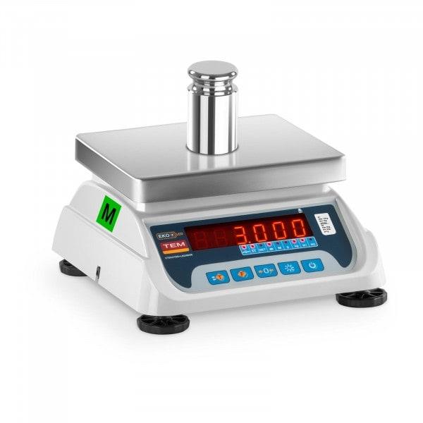 Zboží z druhé ruky Obchodní váha - 1,5 kg/0,5g - 3 kg/1 g - LED