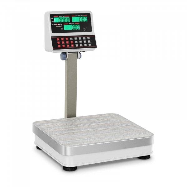 B-WARE Obchodní váha bez certifikace - 100 kg / 10 g - bílá -LCD