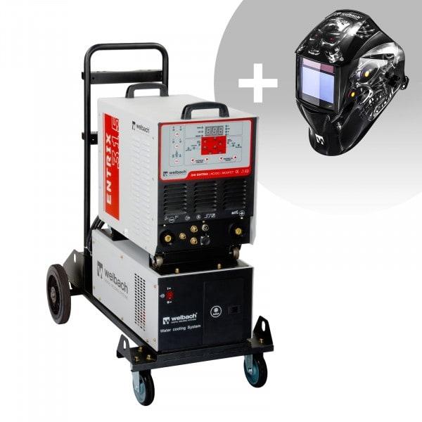Svařovací set ALU svářečka - 315 A - 400 V - Puls - vodní chladič + Svářecí helma - Metalator - EXPERT SERIES