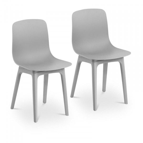 B-zboží Židle - 2dílná sada - až 150 kg - sedák 44 x 41 cm - šedá