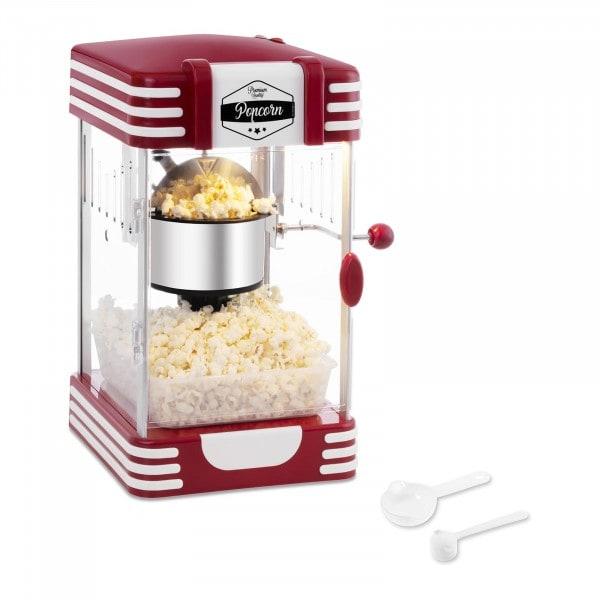 Stroj na popcorn - 50. léta retro design - červený