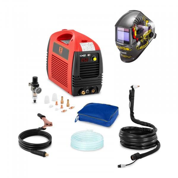 Svařovací set Plazmová řezačka - 50 A - 230 V - Basic + Svářecí helma- Eagle Eye - ADVANCED SERIES