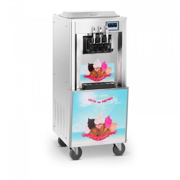 B-zboží Stroj na točenou zmrzlinu - 2 700 W - 2 x 8,5 l - 33 l/h
