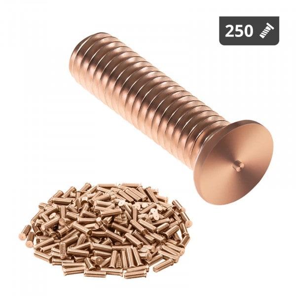 Navařovací šrouby - M3 - 12 mm - ocel - 250 kusů
