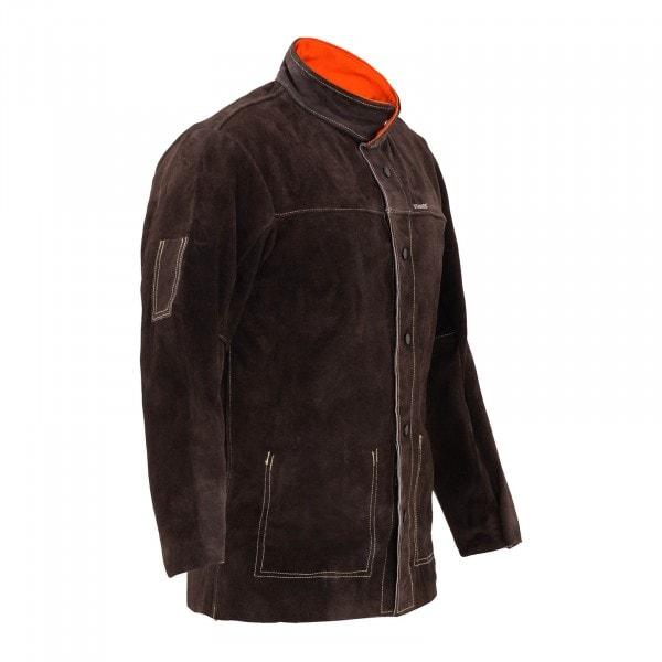 Svářečská bunda z telecí štípenkové usně - velikost L