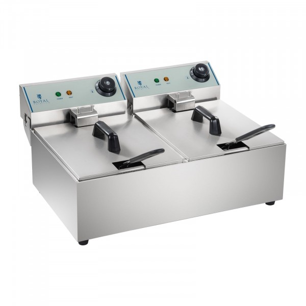 B-WARE Elektrická fritéza - 2 x 10 l - ECO