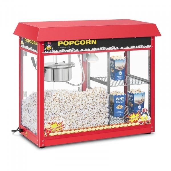 Stroj na popcorn - vyhřívaná výloha - červený