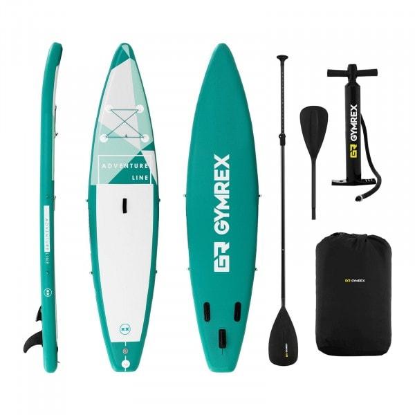 B-zboží Nafukovací stand up paddleboard - 120 kg - zelená - sada s pádlem a příslušenstvím