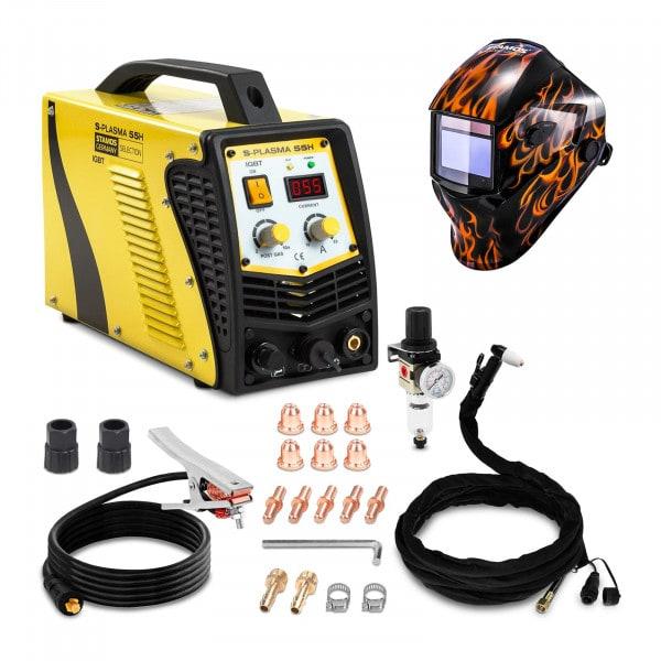 Svařovací set Plazmová řezačka - 55 A - 230 V - Kontaktní zapalování + Svářecí helma - Firestarter 500 - ADVANCED SERIES