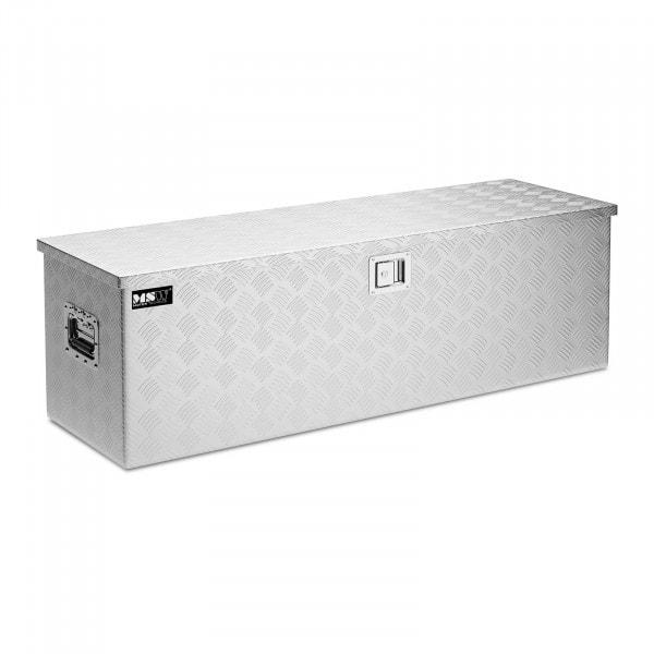 B-zboží Hliníkový kufr na nářadí - rýhovaný plech - 124 x 38 x 38 cm - 150 l