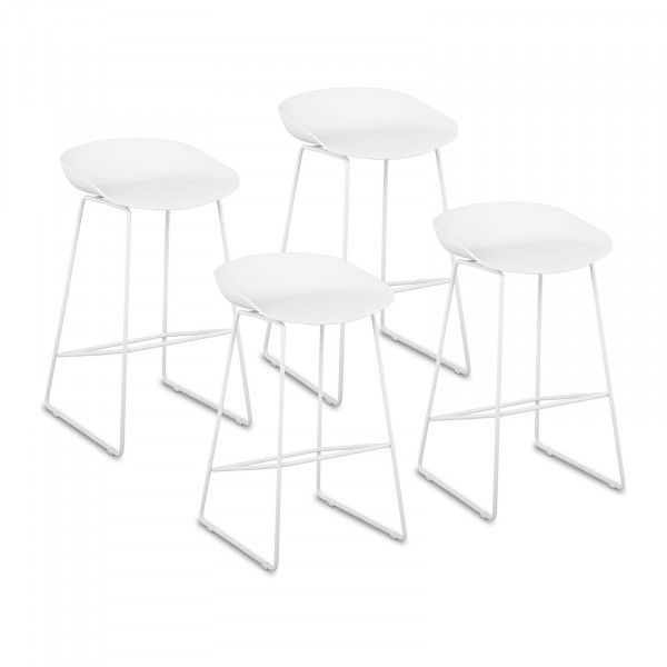 B-zboží Barová stolička - 4dílná sada - až 150 kg - sedák 38 x 36 cm - bílá