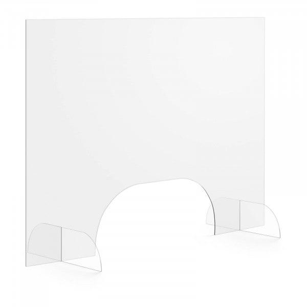B-zboží Ochranná přepážka - 100 x 70 cm - akrylátové sklo - výdejové okénko 50 x 20 cm