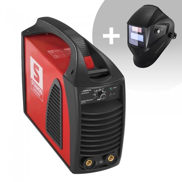 Svařovací set Elektrodová svářečka - 120 A - Hot Start - IGBT + Svářecí helma - Operator - EASY SERIES