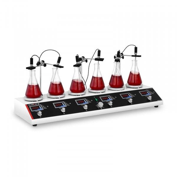 B-zboží Magnetické míchadlo s 6 topnými deskami