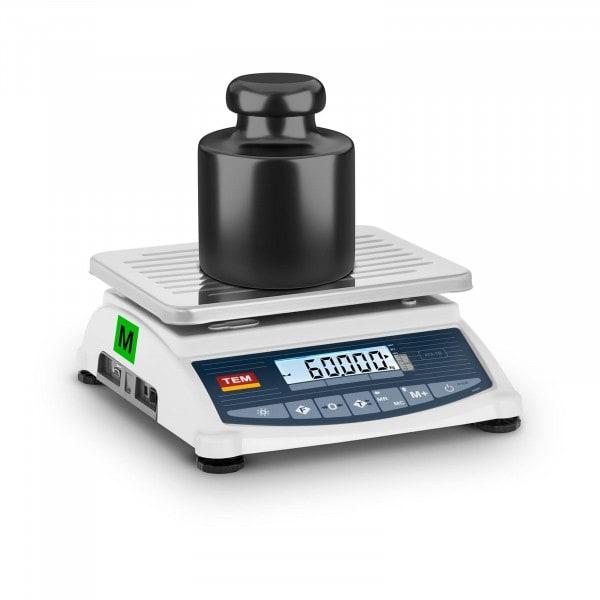 B-zboží Stolní váha - cejchovaná - 60 kg / 20 g - LCD - Memory