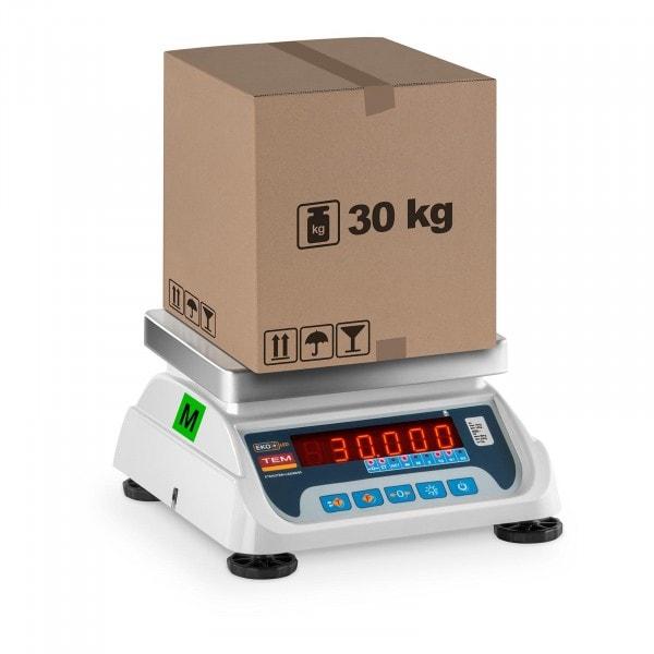 Obchodní váha - 15 kg/5 g - 30 kg/10 g - LED